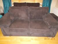 2 x 2 seater sofas and footstool - VGC - Must go!!!!