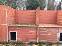 Wooden dog kennels