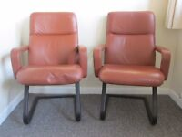 2 Retro luxury arm chair leather office chair relaxing bouncing gaming chair