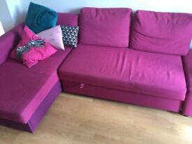 Ikea corner sofa / sofa bed with underneath storage!