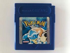 Pokemon Blue Gameboy Game - Genuine, Great Condition & Working Save
