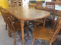 5ft Pine Dining Table & 6 Chairs