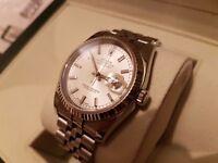 Genuine Mens mint condition 2010 Rolex Datejust 116234 watch White Gold Bezel