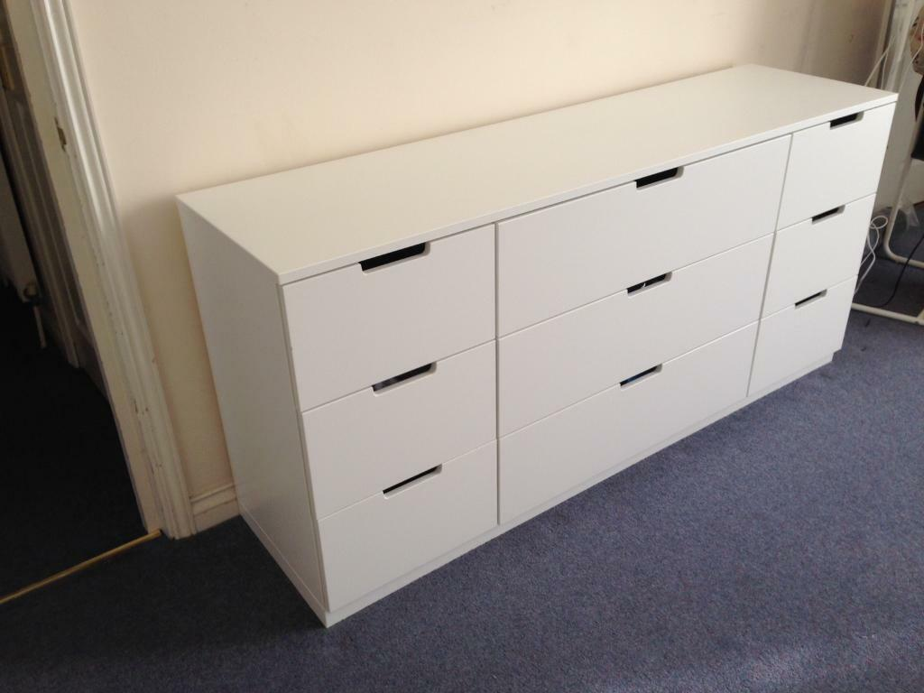 ikea nordli chest of 9 drawers in archway london gumtree. Black Bedroom Furniture Sets. Home Design Ideas