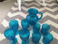 Blue 'Zara Home' Goblets, Tumblers & Jug
