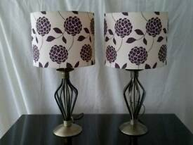 Table Lamps Matching Pair Large