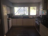 MAGNET GLOSS WHITE KITCHEN UNITS WITH GRANITE WORKTOPS & APPLIANCES FOR SALE £2,200 ONO.