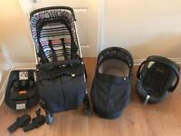 Mamas & papas Solo range pram/buggy & car seat with isofix base