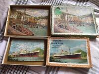 Vintage wooden puzzles x 2. Victory puzzles bargain £8.00