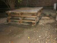 3 strong Sturdy Pallets