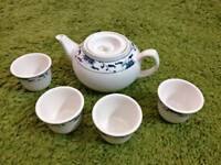 China Tea Set Pot and Cups Porcelain
