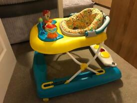 Baby walker very sturdy colourful collapsing in excellent condition