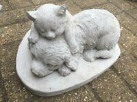 Puppy and Kitten Sleeping Garden Ornament