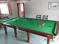 3/4 size snooker table