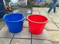 2 large storage tubs/toy boxes