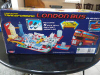 Transforming London Bus take along Carry Case Play set