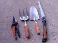 4 Items of Garden Hand Tools