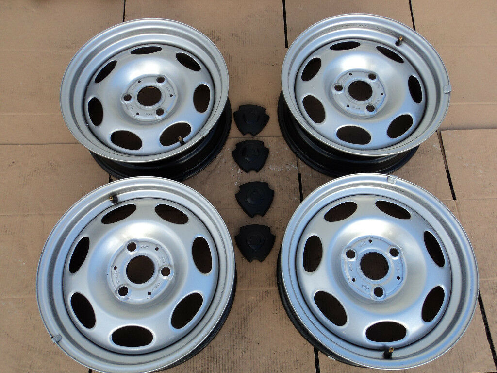 Full Set Of 4 15 Quot Steel Wheels For Smart Fortwo W451 07 14