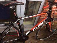 Cube Peloton Race Road Bike + Specialized Helmet + Heavy Duty Lock / Chain +Tube and Tyre Repair Kit