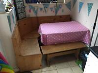 Kitchen corner table bench