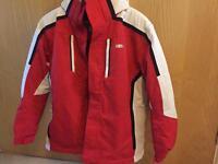 Nevis proper technical ski jacket red unisex age 13 or 158cm, suits short female too