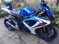 Suzuki GSXR600 k6,2006, BLUE,13700M,SUPERB CONDITION, MOT, EXTRAS,ANY INSPECTION, DELIVERY POSSIBLE