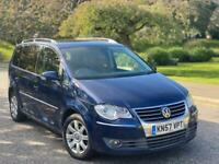 2007(57)Volkswagen Touran 2.0 TDI SE 7 Seater Full Service History +Not Ford Seat Audi