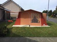 Vintage canvas frame tent marechal eurogrange super 6 berth