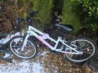 2 girls halford bikes for sale
