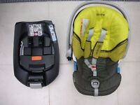 Cybex Aton car seat with Isofix base and buggy adaptors - excellent condition £75