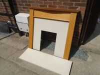 Fireplace Marble backing & hearth plus surround , FREE