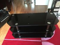 Black & Chrome TV Stand