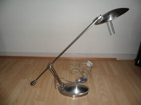 ANGLE POISE STYLE CHROME DESK LAMP