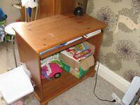 Small desk with folded shelf