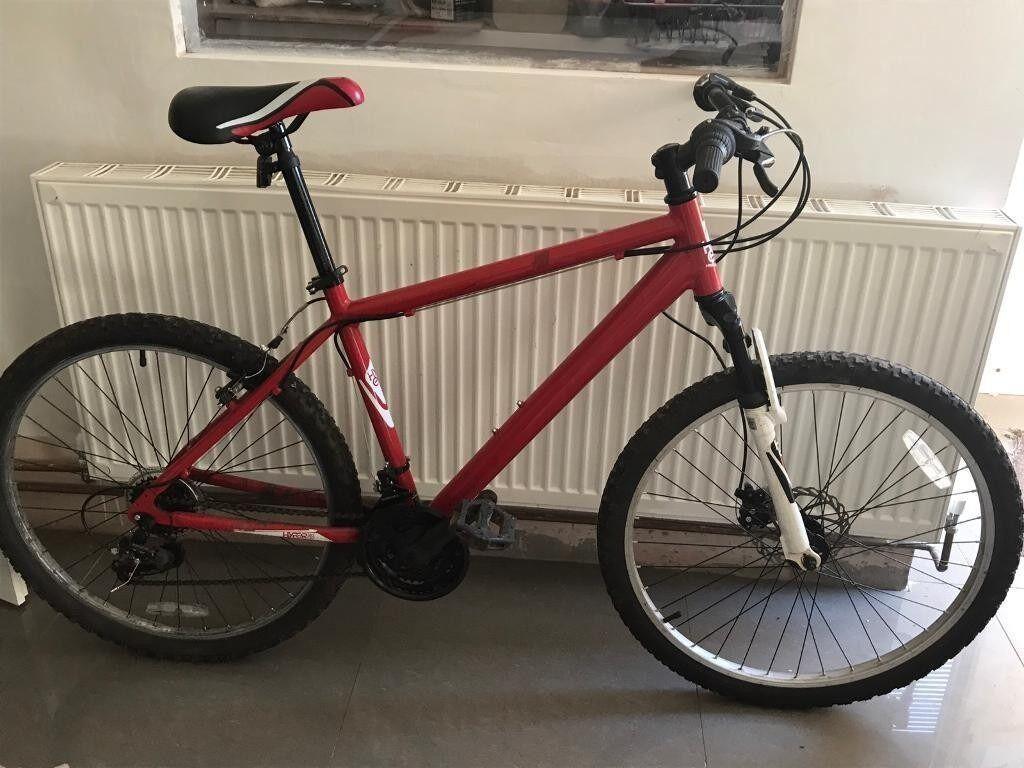 Mens Hyper Bike Co Detonate mountain bike red/white/black Mens mountain bike hyper bike co