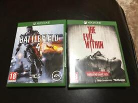 Battlefield 4, the evil within xbox one