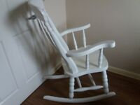 White Wood Rocking Chair