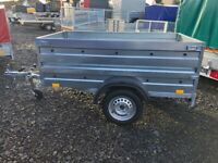 BRAND NEW MODEL 6X4 SINGLE AXLE DOUBLE BROADSIDE TRAILER 750KG