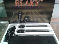 2 x RLAXY AK-3300 VHF Professional Wireless Microphones