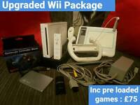 Upgraded Nintendo Wii with Games