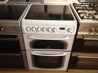 White Hotpoint electric cooker