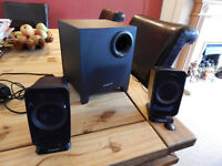 Creative T3150 Wireless 2.1 Bluetooth Speaker System with Subwoofer.