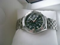 Eterna Airforce III automatic mechanical chronograph wristwatch - New old Stock - '00