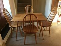 ERCOL dinning table and chairs