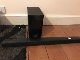 LG sound bar with sub