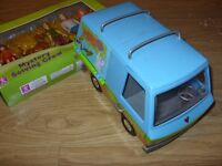 Scooby Doo Mystery Machine Ghost Patrol Toy Van + Mystery Solving Crew (5 Action Figure Set)