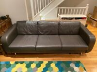 BoConcept Leather Sofa - 3-seater – Grey - £200