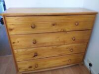 Large pine chest drawers