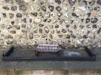 Fire grate, ash pan and hearth guard