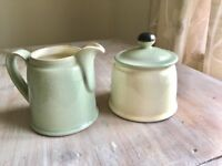 Denby Milk Jug & Sugar Bowl